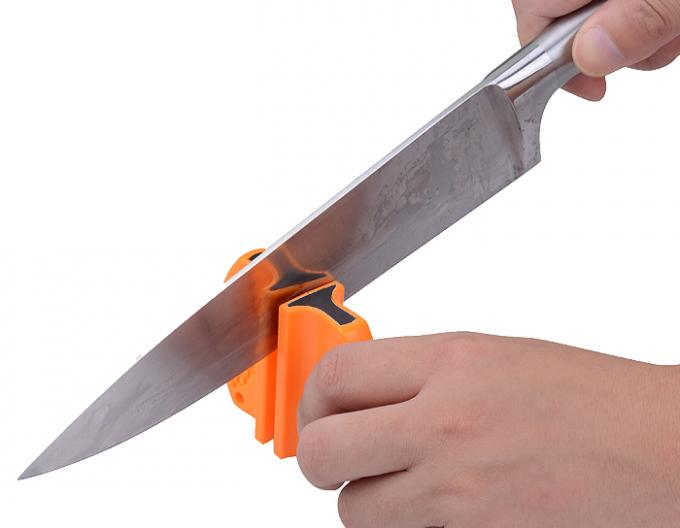 Mini Size Outdoor Knife Sharpener With Tungsten Blade And Ceramic Rod