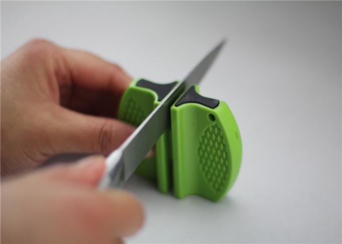 Portable Plastic 2 Stage Knife Sharpener Camping Tools With Dry And Clean