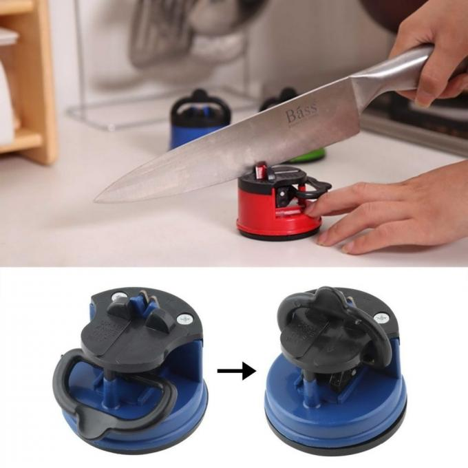 Round Household Knife Sharpener / Tungsten Steel Knife Sharpener Flower Basket Shaped