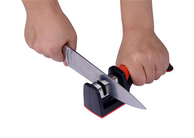 China Knife Accessories Kitchen Knife Sharpener , Hunting Knife Sharpener With TPR Handle supplier