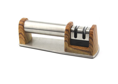 Norton Wooden Printing Handle Knife Sharpener With CE Approved , Long Lifespan