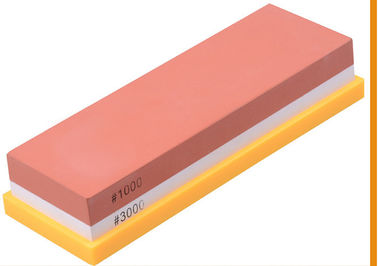 China Home Whetstone Sharpening Stone , 1000 3000 Grits White Corundum Sharpening Stone supplier