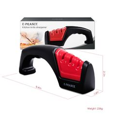 China Convenient Red 3 Stage Knife Sharpener For Kitchen Knife Sharpening System supplier