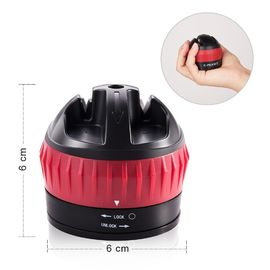 China Red Black Plastic Knife Sharpener With Suction Cup For Housewife supplier