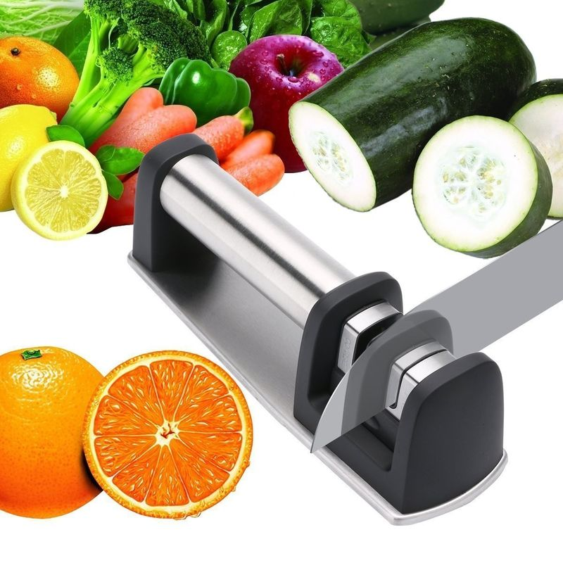 Hand Knife Sharpener Chef Knife Sharpening With 2 Stage 200 * 62 * 64mm