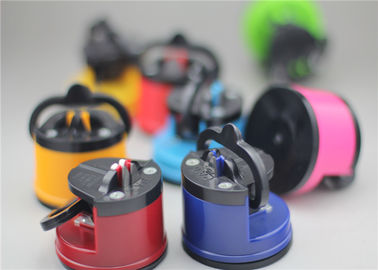 Pocket Sized Suction Cup Knife Sharpener Kitchen Accessory With Different Color