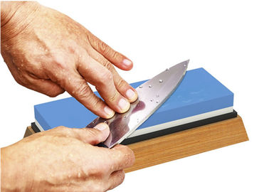 Non Slip 1000 6000 Grit Double Sided Sharpening Stone With Bamboo Base And Bonus Angle Guide